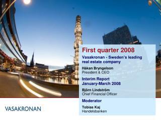 First quarter 2008