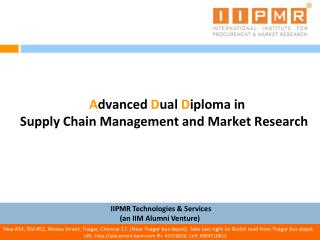 Advanced Dual Diploma in  Supply Chain Management and Market Research