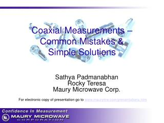 Coaxial Measurements – Common Mistakes & Simple Solutions