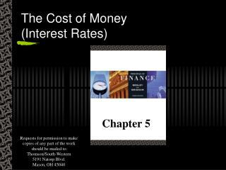 The Cost of Money (Interest Rates)