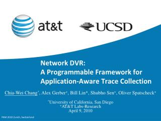 Network DVR: A Programmable Framework for Application-Aware Trace Collection