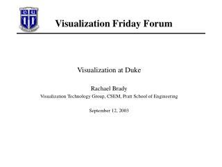 Visualization Friday Forum