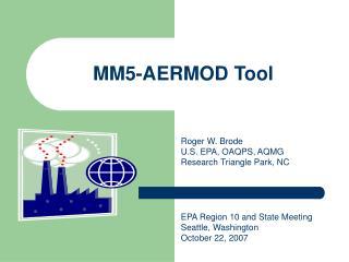 MM5-AERMOD Tool