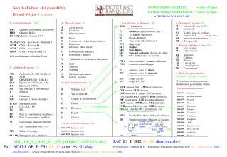 Nom des Fichiers - Bâtiment AC60