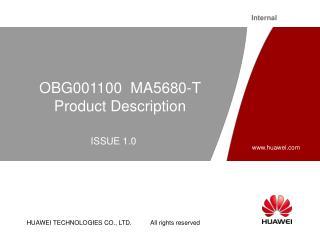 OBG001100  MA5680-T Product Description