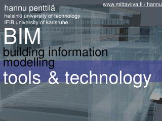 BIM building information modelling tools & technology