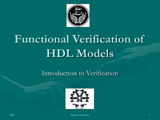 Functional Verification of HDL Models