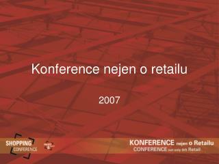 Konference nejen o retailu