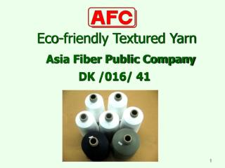 Eco-friendly Textured Yarn
