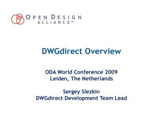 DWGdirect Overview