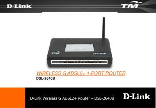 D-Link Wireless G ADSL2+ Router – DSL-2640B