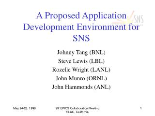 A Proposed Application Development Environment for SNS