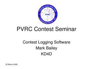 PVRC Contest Seminar