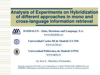 DAEDALUS – Data, Decisions and Language, S.A. daedalus.es