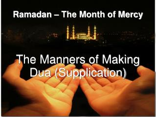 Ramadan – The Month of Mercy