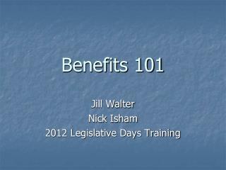Benefits 101
