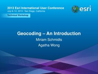 Geocoding – An Introduction