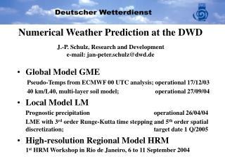 Global Model GME Pseudo-Temps from ECMWF 00 UTC analysis; operational 17/12/03