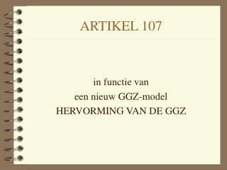 ARTIKEL 107