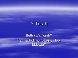 Y Torah