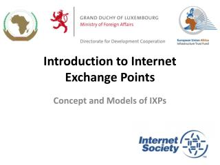 Introduction to Internet Exchange Points