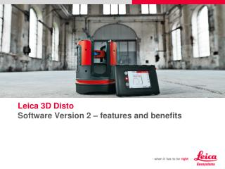 Leica 3D Disto Software Version 2 – features and benefits
