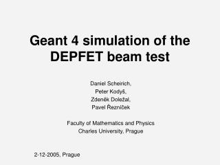 Geant 4 simulation of the DEPFET beam test