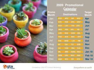2009 Promotional Calendar