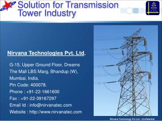 Solution for Transmission  Tower Industry