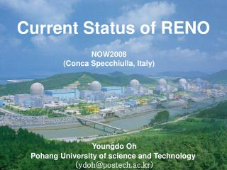 Youngdo Oh Pohang University of science and Technology (ydoh@postech.ac.kr)