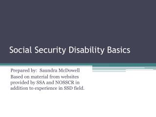 Social Security Disability Basics