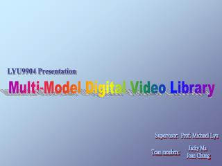 Multi-Model Digital Video Library
