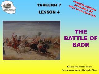 TAREEKH 7 LE SSON 4