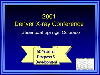 2001  Denver X-ray Conference