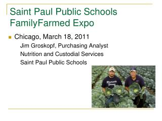 Saint Paul Public Schools FamilyFarmed  Expo