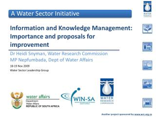 Information and Knowledge Management:  Importance and proposals for improvement
