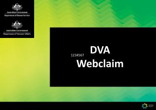 DVA  Webclaim