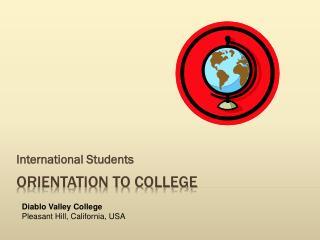 Orientation to college