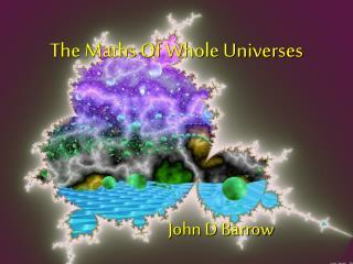 John D Barrow