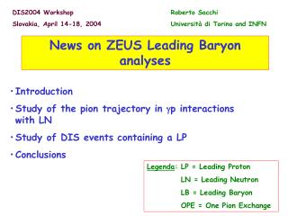 News on ZEUS Leading Baryon analyses