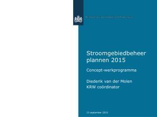 Stroomgebiedbeheerplannen 2015