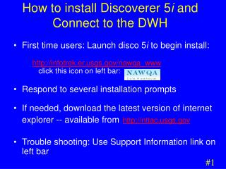 How to install Discoverer 5 i  and Connect to the DWH