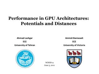 Performance in GPU Architectures: Potentials and Distances