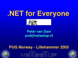 .NET for Everyone