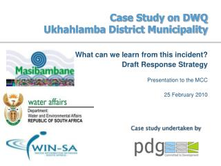 Case Study on DWQ Ukhahlamba District Municipality