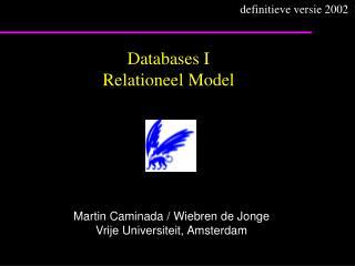 Databases I Relationeel Model