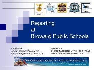 Reporting at Broward Public Schools