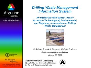 Drilling Waste Management Information System