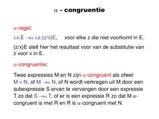 ? - congruentie