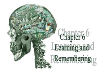 Chapter 6 Learning and  Remembering